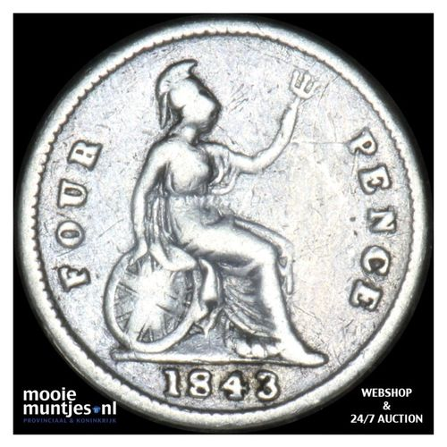 4 pence (groat) - Great Britain 1843 (KM 731.1) (kant A)