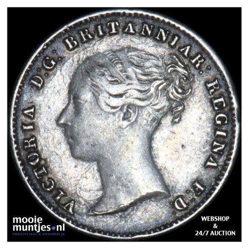 3 pence - Great Britain 1859 (KM 730) (kant B)