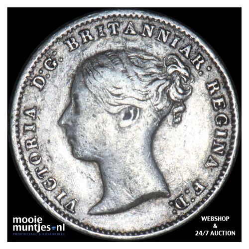 3 pence - Great Britain 1866 (KM 730) (kant B)