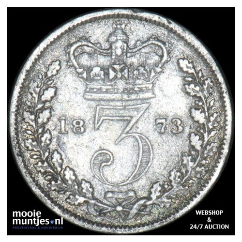 3 pence - Great Britain 1873 (KM 730) (kant A)