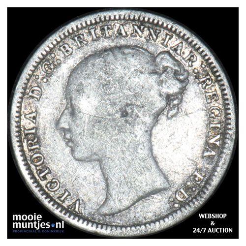 3 pence - Great Britain 1873 (KM 730) (kant B)
