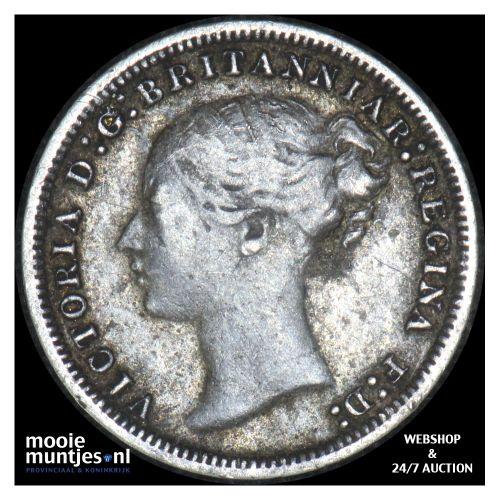 3 pence - Great Britain 1875 (KM 730) (kant B)