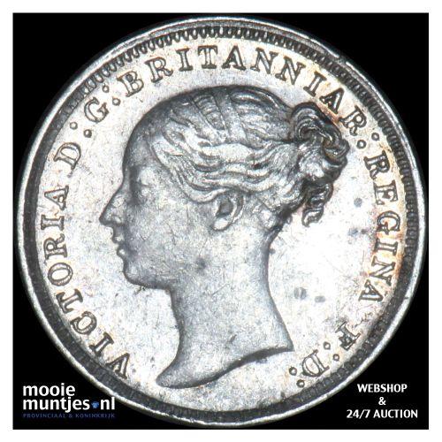 3 pence - Great Britain 1877 (KM 730) (kant B)