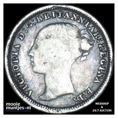 3 pence - Great Britain 1879 (KM 730) (kant B)