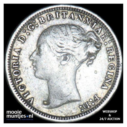 3 pence - Great Britain 1878 (KM 730) (kant B)