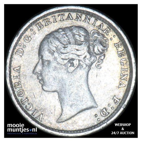 3 pence - Great Britain 1886 (KM 730) (kant B)