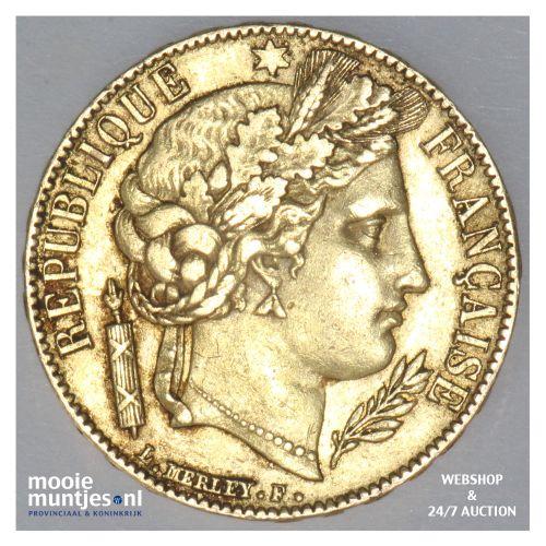 20 francs - France 1851 A (Paris) (KM 762) (kant B)