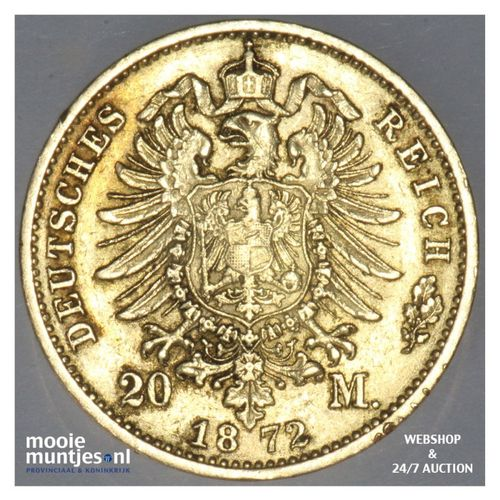 20 mark - reform coinage - German States/Wurttemberg 1872 (KM 622) (kant A)