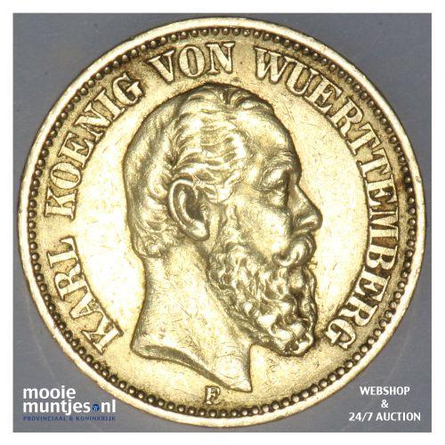 20 mark - reform coinage - German States/Wurttemberg 1872 (KM 622) (kant B)