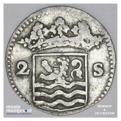 Zeeland - Dubbele wapenstuiver - 1732 (kant B)