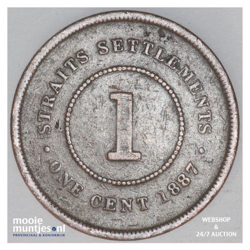 cent - British Crown Colony (1867-1942) - Straits Settlements 1887 (KM 16) (kant