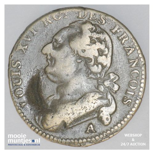 12 deniers - France 1792 A (Paris) (KM 600.1) (kant B)