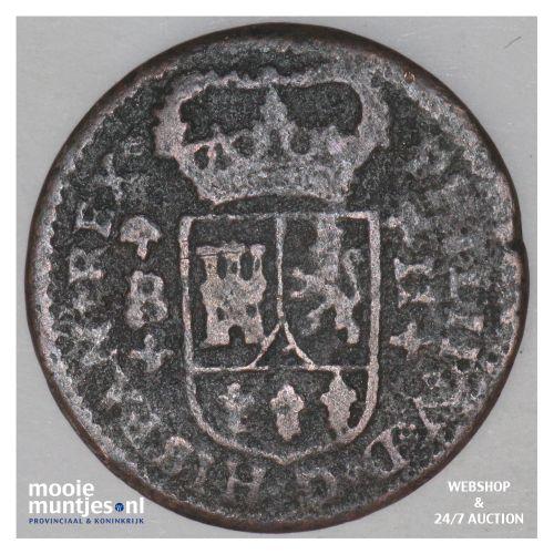 2 maravedis - Spain 1718 (KM 302.1) (kant B)