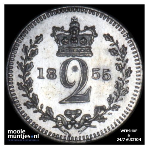 2 pence - Great Britain 1855 prooflike (KM 729) (kant A)