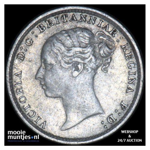 3 pence - Great Britain 1887 (KM 730) (kant B)