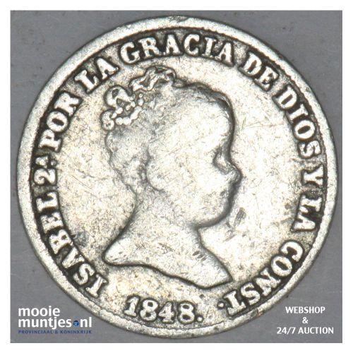 real (croat) - Spain 1848 (KM 518.1) (kant B)