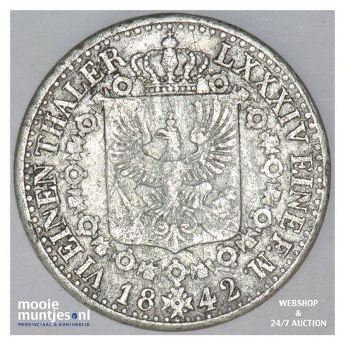 1/6 thaler - German States/Prussia 1842 A (KM 436.1) (kant A)