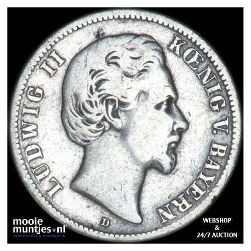 2 mark - reform coinage - German States/Bavaria 1876 (KM 903) (kant B)