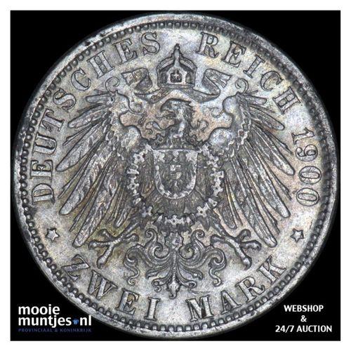 2 mark - reform coinage - German States/Bavaria 1900 (KM 913) (kant A)