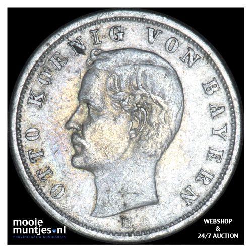2 mark - reform coinage - German States/Bavaria 1900 (KM 913) (kant B)
