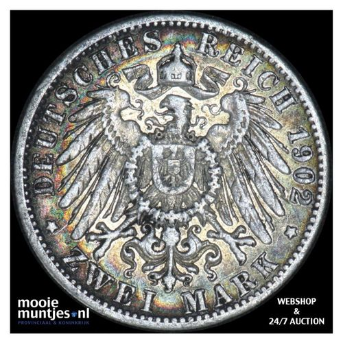 2 mark - German States/Wurttemberg 1902 (KM 631) (kant A)