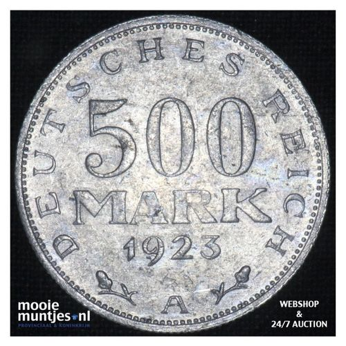 500 mark - Germany-Weimar Republic 1923 A (KM 36) (kant A)