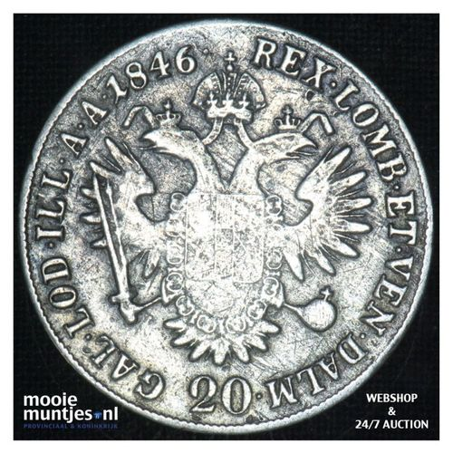 20 kreuzer - Austria 1846 E (KM 2208) (kant A)