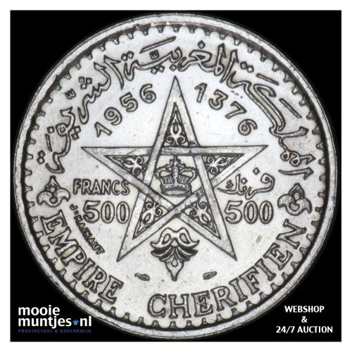 500 francs - Morocco 1937-1956 (KM Y# 54) (kant B)