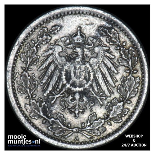 1/2 mark - Germany 1906 A (KM 17) (kant B)