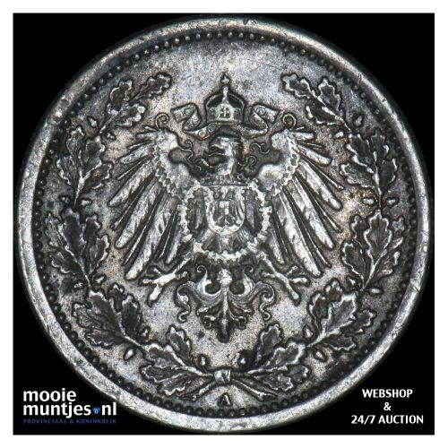 1/2 mark - Germany 1918 A (KM 17) (kant B)