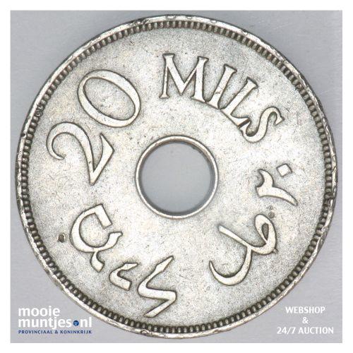 20 mils - Palestine 1940 (KM 5) (kant B)