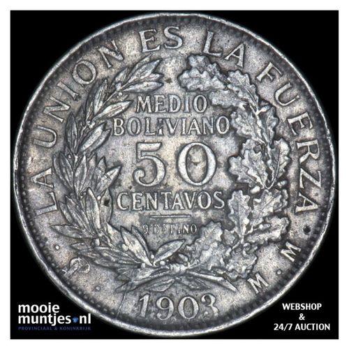 50 centavos (1/2 boliviano) - republic - Bolivia 1903 (KM 175.1) (kant A)