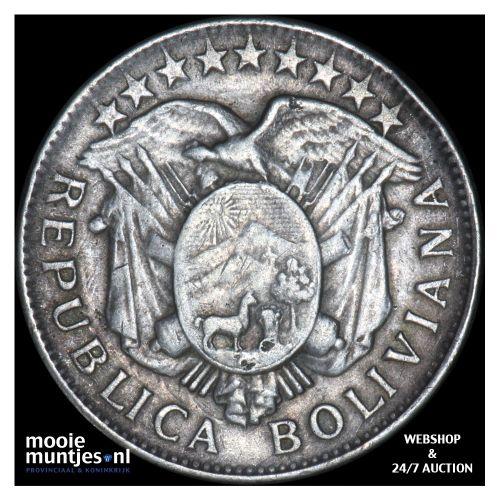 50 centavos (1/2 boliviano) - republic - Bolivia 1903 (KM 175.1) (kant B)
