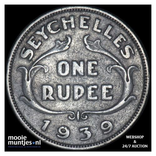 rupee - British crown colony - Seychelles 1939 (KM 4) (kant A)
