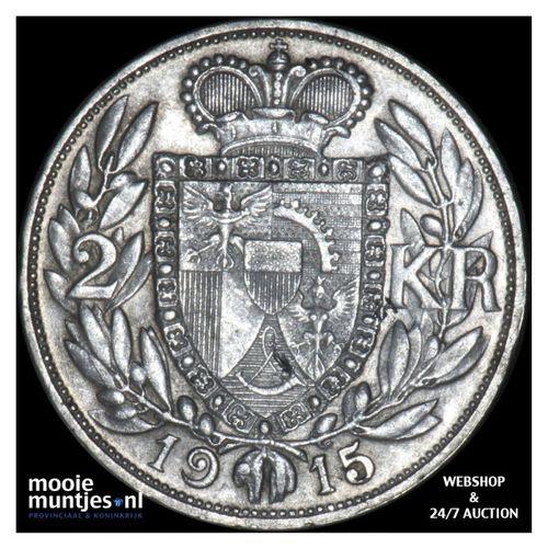 2 kronen - Liechtenstein 1915 (KM Y# 3) (kant A)
