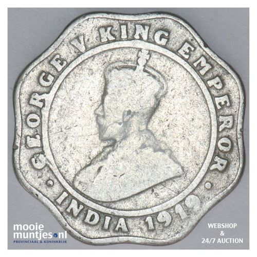 4 annas - India-British 1919 (KM 519) (kant A)