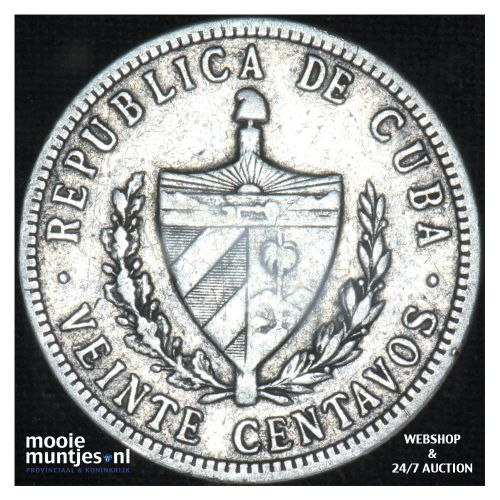 20 centavos - first republic - Cuba 1915 (KM 13.2) (kant B)