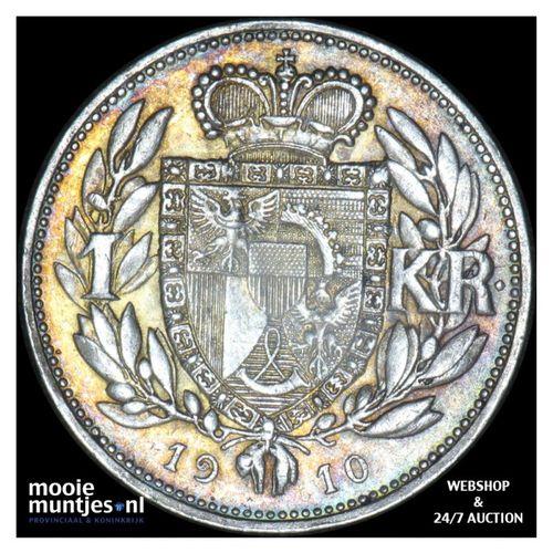 krone - Liechtenstein 1910 (KM Y# 2) (kant A)