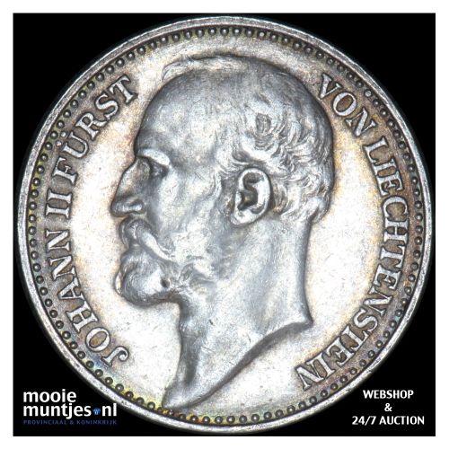 krone - Liechtenstein 1910 (KM Y# 2) (kant B)