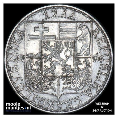 20 korun - Czechoslovakia 1933 (KM 17) (kant A)