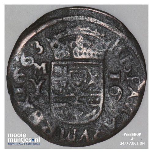 16 maravedis - Spain 1663 Y (KM 175.2) (kant A)