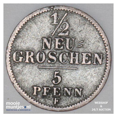 1/2 neu-groschen (5 pfennig) - German States/Saxony-Albertine 1856 F (KM 1158) (