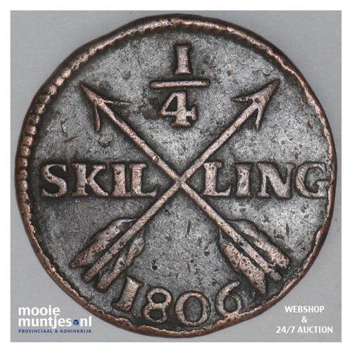 1/4 skilling - Sweden 1806 (KM 564) (kant A)
