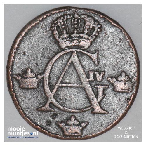 1/4 skilling - Sweden 1806 (KM 564) (kant B)