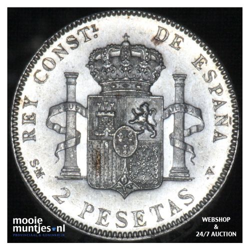 2 pesetas - kingdom - Spain 1905 (KM 725) (kant B)