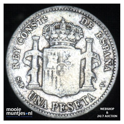 peseta - kingdom - Spain 1904 (KM 721) (kant B)