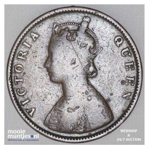 1/2 anna - India-British 1862 (KM 468) (kant B)