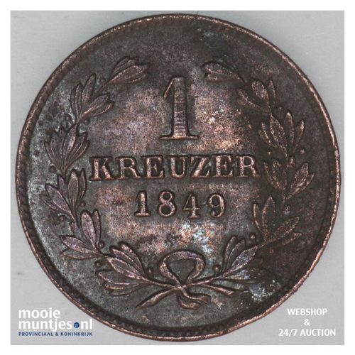 kreuzer - German States/Baden 1849 (KM 218.2) (kant A)