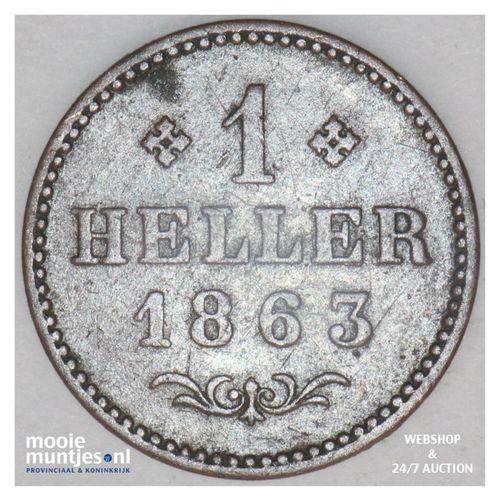 heller - German States/Frankfurt am Main 1863 (KM 356) (kant A)