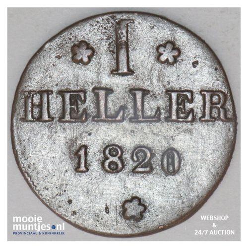 heller - German States/Frankfurt am Main 1820 (KM 301) (kant A)